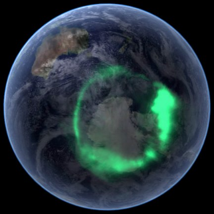 Space weather has several effects on near-Earth space; the most recognisable might be the aurorae at high latitudes. Large solar eruptions can cause aurorae to form in even lower latitudes, as far south as the equator in very strong events. This image shows the aurora australis captured by NASA's IMAGE satellite [Credit: NASA].